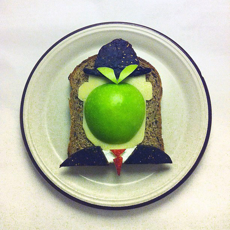 Magritte Art Toast Project Ida Frosk IIHIH