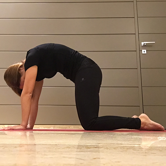 Cominciare bene la giornata con lo yoga - Claudia Porta su iocominciobene - posizione gatto 2
